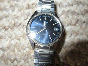 【送料無料】腕時計 パルサーステンレススチールビンテージpulsar stainless steel wristwatch vintage