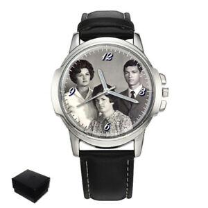 【送料無料】腕時計 パーソナライズメンズプレゼントpersonalised gents mens wrist watch your family photo engraving birthday gift