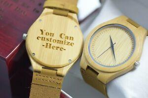 【送料無料】腕時計 プランウッドクォーツメンズウォッチパーソナライズボックスplan design wood watch quartz mens engraved wooden personalised box leather gift