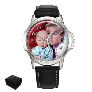 【送料無料】腕時計 パーソナライズカスタムメンズプレゼントpersonalised custom gents mens photo wrist watch engraving birthday gift