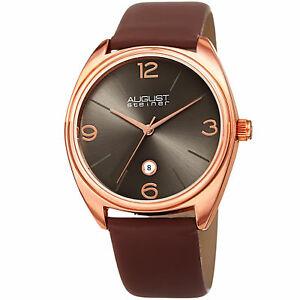 【送料無料】腕時計 シュタイナークォーツムーブメントストラップウォッチmens august steiner as8231rgbr quartz movement date genuine leather strap watch