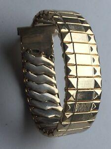 【送料無料】腕時計 ヴィンテージゴールドブレスレットフレキシフィックスバーウォッチラグvintage 18mm 1970 expanding rolled gold watch flexi bracelet fixed bars lugs nos