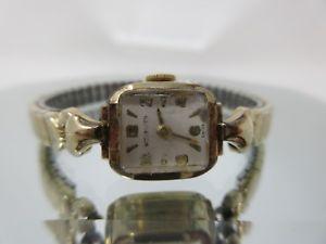 【送料無料】腕時計 ウィットスイスレディースkヴィンテージwittnauer swiss ladies 10k gf vintage watch 17 jewels *runs great*