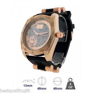 【送料無料】腕時計 ブリングブラックラバーメンズマスターローズゴールドウォッチ