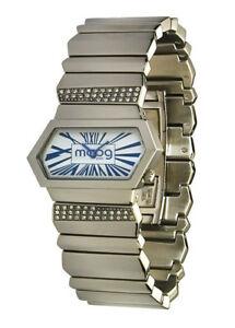 【送料無料】腕時計 パリブレスレットmoog paris montre femme avec cadran blanc et bleu bracelet argent