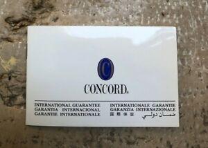【送料無料】腕時計 ウォッチサービス#concord watch internat guarantee warranty certificate blank service booklet 2