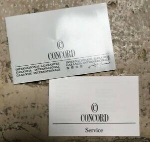 【送料無料】腕時計 ウォッチサービスconcord watch internat guarantee warranty certificate blank service booklet