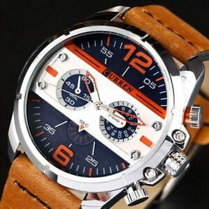 【送料無料】腕時計 レザースポーツウォッチクオーツウォッチcurren watches men luxury army military watch leather sport watches quartz m
