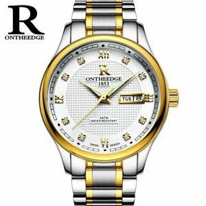 【送料無料】腕時計 エッジラグジュアリースポーツビジネスontheedge top luxury men watch sport waterproof men business wristwatch stain