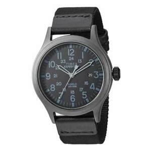 【送料無料】腕時計 ブラックファブリックストラップメンズスカウト