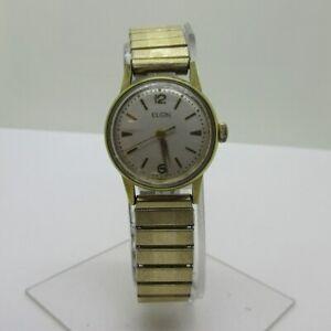 【送料無料】腕時計 ビンテージエルギンスイスステンレススチールvintage elgin 632 17j swiss gold plated and stainless steel watch