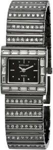 【送料無料】腕時計 レディースブラックチタンメタルラインストーンアナログクォーツexcellanc damenuhr schwarz titanlook strass analog metall quarz x152971000002