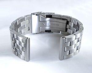 【送料無料】腕時計 ストレートエンドエンジニアウォッチブレスレットソリッドステンレススチール22mm strait straight end brushed engineer watch bracelet, solid stainless steel