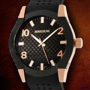 【送料無料】腕時計 ルソーゴールドメンズスポーツウォッチrousseau gold ip plated mens moret sport watch