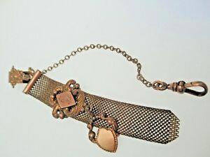 【送料無料】腕時計 アンティークビクトリアゴールドフォブチェーングラムantique victorian gold filled high relief watch fob chain 200gr