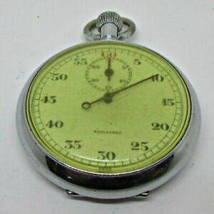 【送料無料】腕時計 ビンテージミードアンドカンパニースイスシルバーストーンストップウォッチvintage mead and company boulevard swiss 7j silver tone 60 second stop watch