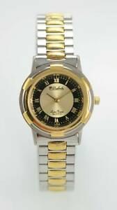【送料無料】腕時計 メンズブラックステンレススチールシルバーゴールドバッテリー