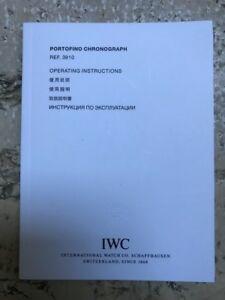 【送料無料】腕時計 ポルトフィーノクロノマニュアルiwc portofino chrono ref 3910 operating instructions manual booklet nos