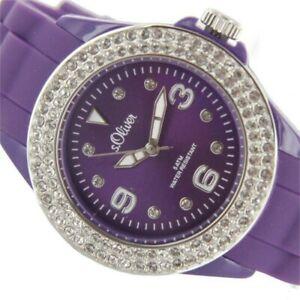 【送料無料】腕時計 オリバーレディースシリコンsoliver damen silikon uhr so2449pq lila zyrkonias neu