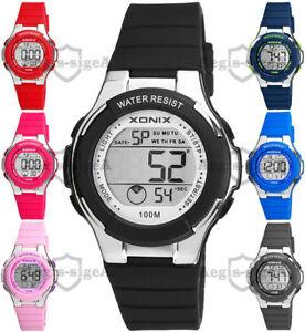 【送料無料】腕時計 デュアルタイムクロノタイマーメートルwomens and girls xonix watch, dual time, chrono, timer, wr100m