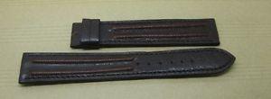 【送料無料】腕時計 ブレスレットマロンbracelet montre en cuir marron 20 mm