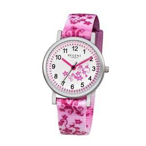 【送料無料】腕時計 リージェントキディアナログピンクピンクregent kinderuhr f727 analog textil pink,rosa,wei