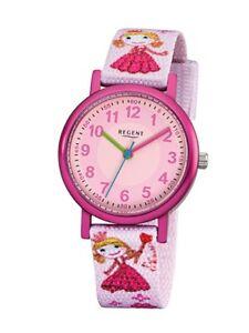 【送料無料】腕時計 リージェントキディアナログピンクregent kinderuhr f949 analog textil rosa