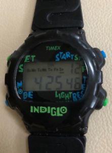 【送料無料】腕時計 ビンテージキッズデジタルノイズアラームクロノウォッチvintage timex kids digital noise watch w indiglo, alarm, chrono nwot