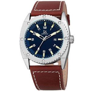 【送料無料】腕時計 メンズジョシュアクォーツムーブメントストラップウォッチmens joshua amp; sons jx120bu quartz movement date genuine leather strap watch
