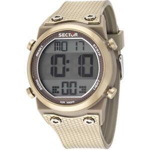 【送料無料】腕時計 セクターシリコーンゴールドクロノアラームデジタルorologio uomo sector rapper r3251582004 silicone gold chrono alarm digitale