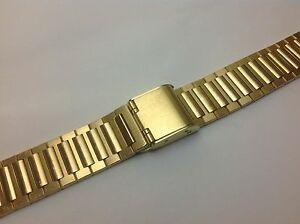 腕時計 メンズゴールドエレクトロプレートステンレススチールクラスプバックスライド