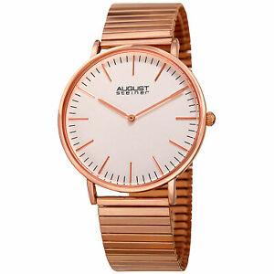 【送料無料】腕時計 シュタイナークラシッククォーツムーブメントブレスレットmens august steiner as8216rg classic quartz movement expansion bracelet watch