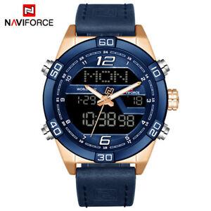 【送料無料】腕時計 ファッションスポーツメンズクォーツnaviforce fashion sports waterproof date mens leather quartz watch