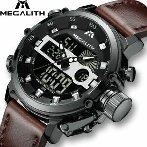 【送料無料】腕時計 ファッションメンズスポーツクォーツマルチmegalith fashion mens led sport quartz watch men multifunction waterproof date