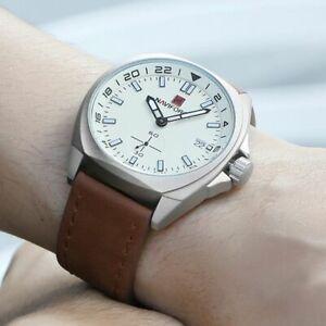 【送料無料】腕時計 メンズスポーツクォーツmilitary watches luxury mens sports men waterproof quartz leather wrist watch