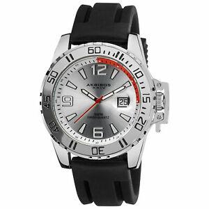 【送料無料】腕時計 メンズスイスクオーツブラックシリコンストラップウォッチ