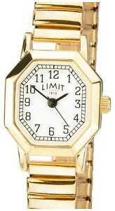 【送料無料】腕時計 レディースゴールドトーンブレスレットホワイトlimit womens gold tone expandable bracelet white 6498 watch