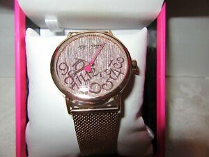 【送料無料】腕時計 ジョンソンメッシュローズゴールドbetsey johnson falling for mesh rose gold watch nib 60