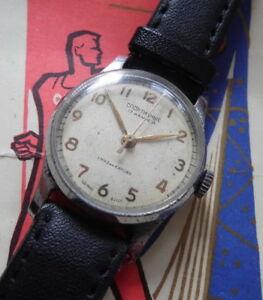 【送料無料】腕時計 sportivnie montre mcanique ancienne 17 rubis made in urss 1 mchz kirova 1950