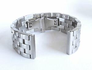 【送料無料】腕時計 ステンレススチールソリッドリンクブレスレット24mm lexury butterfly brushed solid link 316l stainless steel watch bracelet men