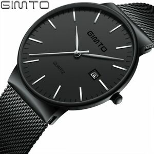 【送料無料】腕時計 シンプルultra thin simple men watch gimto luxury quartz wristwatch creative waterpro