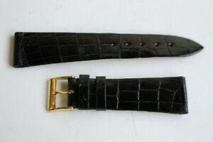 【送料無料】腕時計 ブレスレットノワールbracelet pour montre collet croco noir 39736