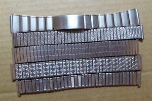 【送料無料】腕時計 ビンテージスチールウォッチストラップ5 gents vintage steel watch straps, good condition