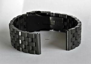 【送料無料】腕時計 ソリッドステンレススチールブラシストレートエンドウォッチブレスレットネジ