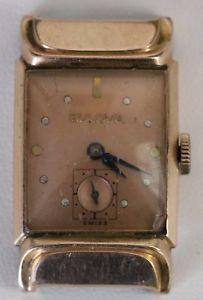 【送料無料】腕時計 #ビンテージスイスアップmen039;s vintage bulova 8 ah swiss 17 jewels wind up 14 kt gold filled watch