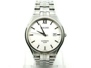 【送料無料】腕時計 パルサーサファイアウォッチ×スリムフィットwristwatch mans pulsar sapphire watch, vx32x328, date 3h, slim wrist fit