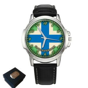 【送料無料】腕時計 ァーグロスターシャーフラグメンズneues angebotgloucestershire county flag mens wrist watch engraving birthday fathers day gift