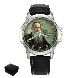 【送料無料】腕時計 ロシアレオトルストイメンズプレゼントleo tolstoy russian writer mens wrist watch engraving birthday gift