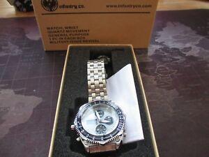 【送料無料】腕時計 メンズクオーツリバイバルボックスmens infantry co, quartz watch,,military issue revival,, box ,tag instructions