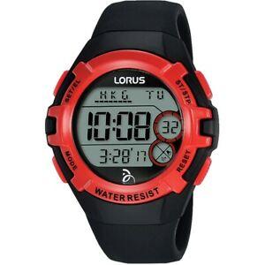 【送料無料】腕時計 デジタルクロノグラフストラップウォッチlorus childrens digital chronograph resin strap watch  r2389lx9
